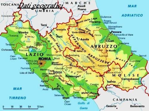 Cartina Geografica Molise Mare.Abruzzo Regione Qualcosa Che Non Sapevamo Nel Delirio Non Ero Mai Sola